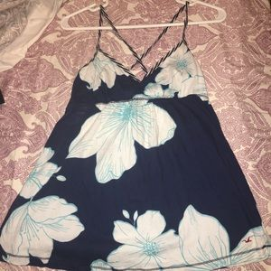 Hollister floral baby doll tank. Size large.